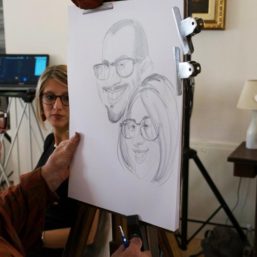 Eccezionale Caricature al Matrimonio - Caricaturista Animazione per Matrimonio  VF12